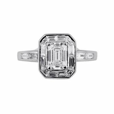 Emerald Cut Cluster 1.00ct EVS1 GIA